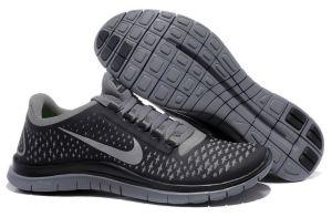 Free 3.0 V4 Mens Shoe Dark Grey Reflect Silver Black
